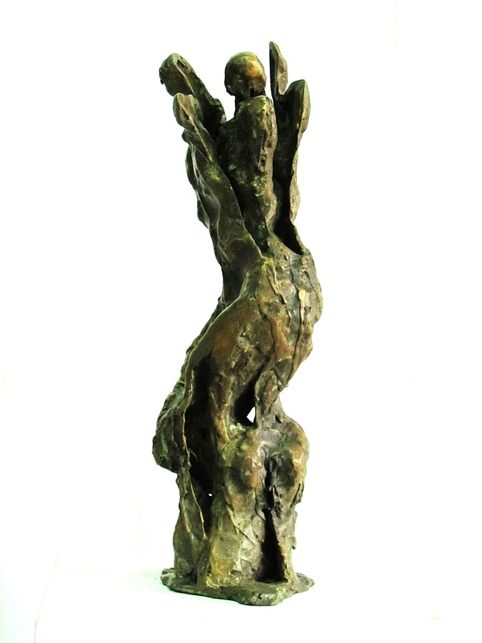 Metaphor, bronze, side view