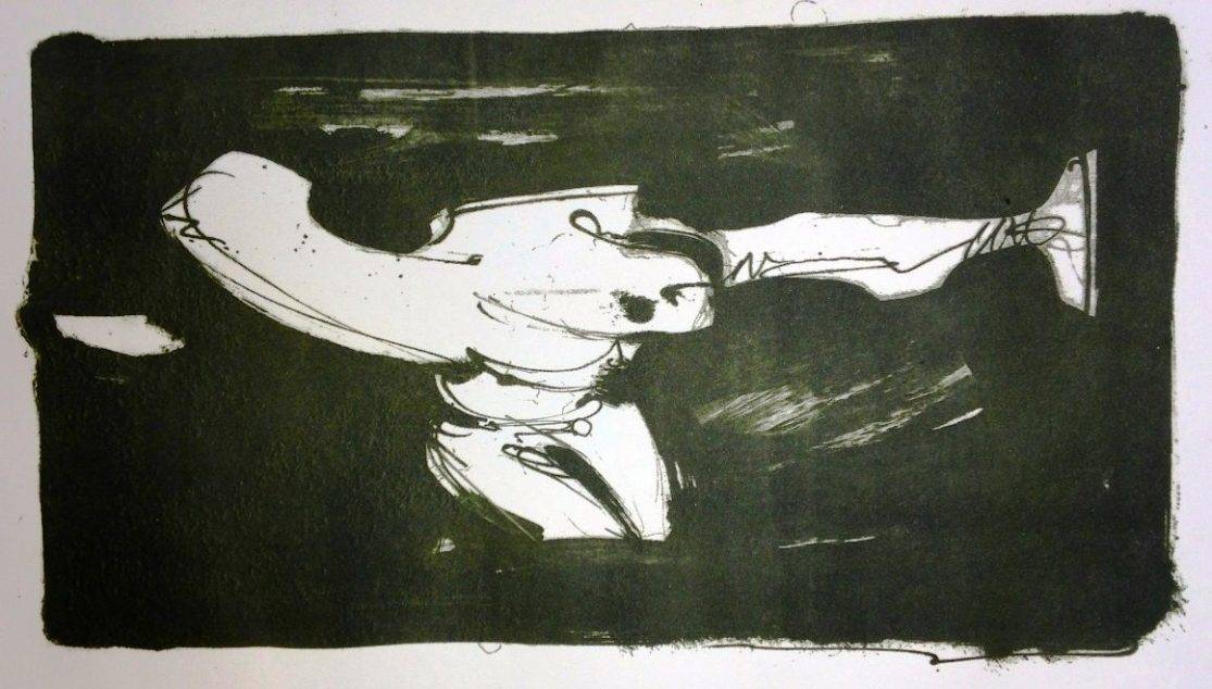 Mon daemon (variation) - lithography