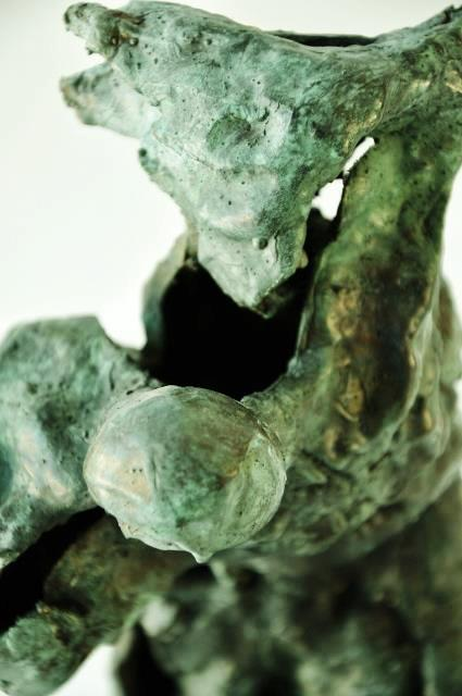 Prometheus, bronze, detail